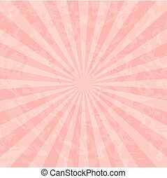 Red Vintage Background with Rays