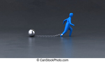 Chain and ball - 3D Animation