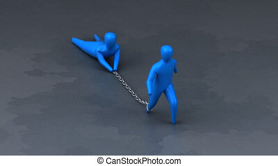 Chained to someone - 3D Animation