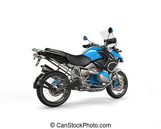 azul, bicicleta, metálico