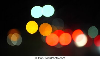 light focus - Auto traffic in Konya  in the evening.