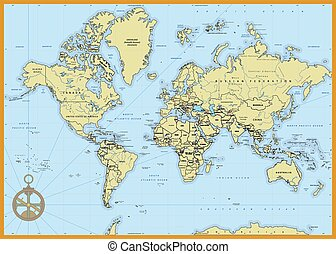 Detailed Political World Map - Highly detailed political...