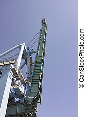 detail of a gantry in a harbour