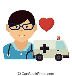 avatar medical doctor - avatar medical man doctor with...