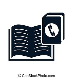 education book opened - open book education object with...