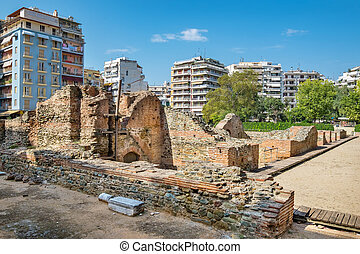Palace of Galerius. Thessaloniki, Greece - Ruins of the...