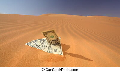 dollars in sand - dollars in the sand - saying