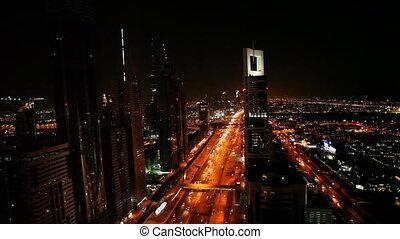 dubai traffic at night.mov