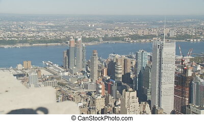 nice day from empire state pan shot part I - pan shot over...