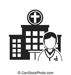 avatar medical doctor - hospital building and avatar medical...