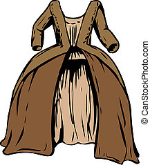 18th Century Round Gown - Round gown or court dress from...