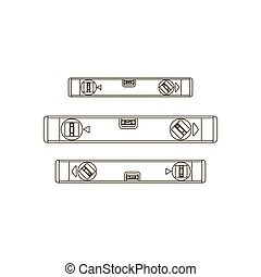 Building level illustration on the white background. Vector...