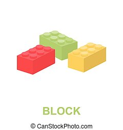 Building block cartoon icon Illustration for web and mobile...