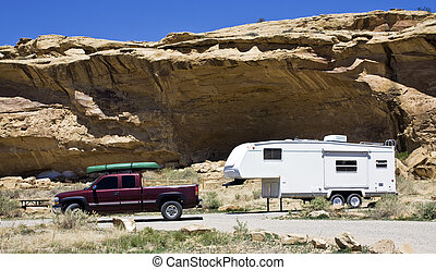 Camping in New Mexico - Camping in Chaco Culture National...