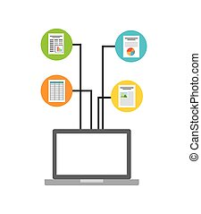 document format with electronic device vector illustration...