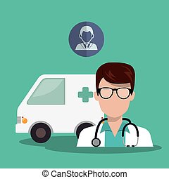 avatar medical doctor - avatar man medical doctor with...