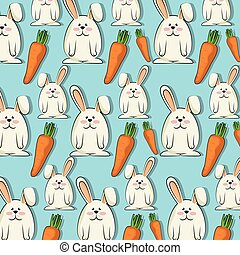 cute rabbit background - cute rabbit animal and orange...