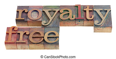 royalty free words in vintage wooden letterpress printing...