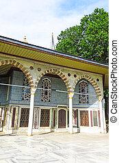 Bagdad, quiosco, situado, palacio,  topkapi