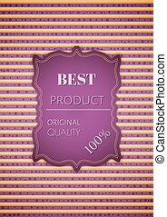 best product stamp on striped background - Best product...