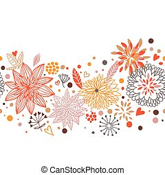 Stylish floral vector on a white