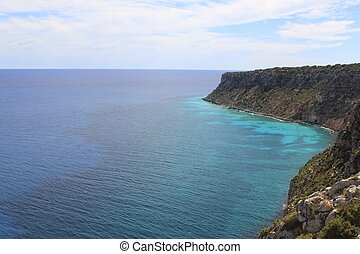 Formentera mediterranean sea from La Mota - Formentera...