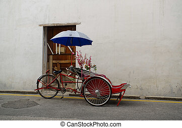 Georgetown, Penang, Malaysia - April 18, 2015: Classic local...