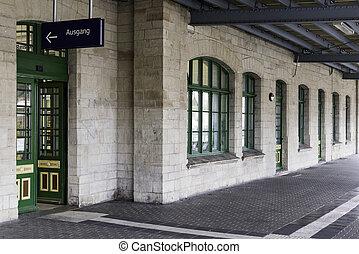old station building of wernigerode - old trainstation...
