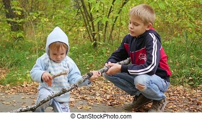 children playing in the Park - funny children playing in the...