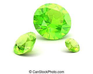 Shiny white Peridot illustration high resolution 3D image 3D...