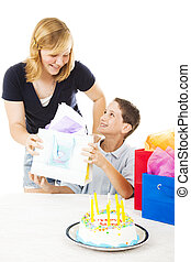 Gift From Sister - Little boy gets a birthday gift from his...