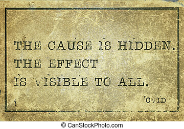 hidden cause Ovid - The cause is hidden - ancient Roman poet...
