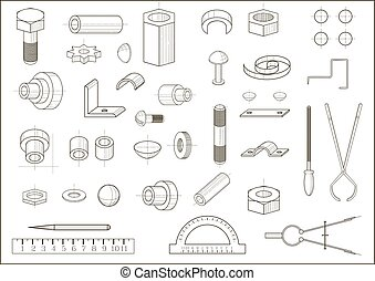 Various parts and tools