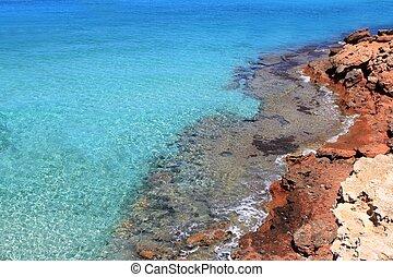 Formentera Cala Saona mediterranean best beaches Balearic...