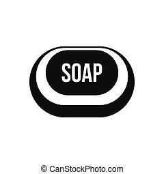 Soap icon in simple style - icon in simple style on a white...