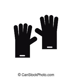 Rubber gloves icon, simple style - icon in simple style on a...