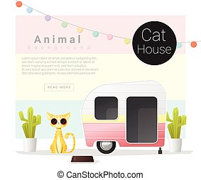 Cute animal collection Cat house 3