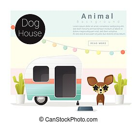 Cute animal collection Dog house 3