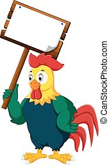 Cartoon chicken rooster
