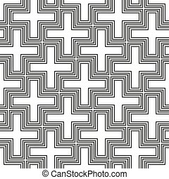vector hinduism swastika ornament pattern - vector...