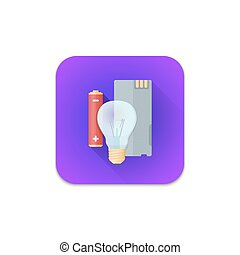 vector electronic recycle waste icon - vector colourful flat...