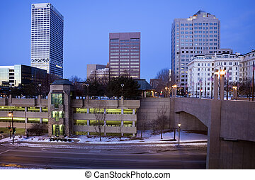 Blue morning in Milwaukee - Blue morning in downtown...