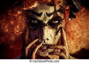 horror, Palhaço, maquiagem