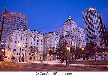Night in Milwaukee - Night in downtown Milwaukee, Wisconsin.