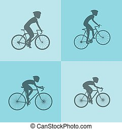 assorted cyclists image