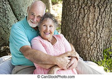 Loving Seniors Embrace