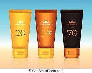 Sun Cosmetics Professional Series Suntan Creams - Set of sun...