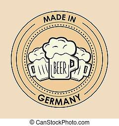 germany oktoberfest beer emblem image
