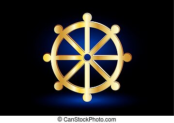 Wheel of Dharma,symbol of Buddhism ,