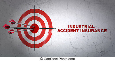 Insurance concept: target and Industrial Accident Insurance...